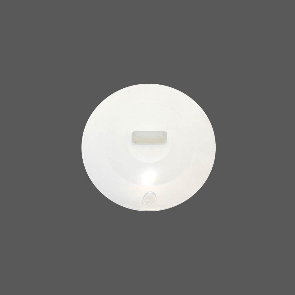 Silikon Deckel 12 cm weiß