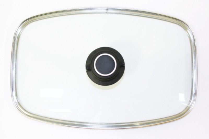 Glasdeckel für Pfanne oder Bräter klein 32,1 x 19,9 cm