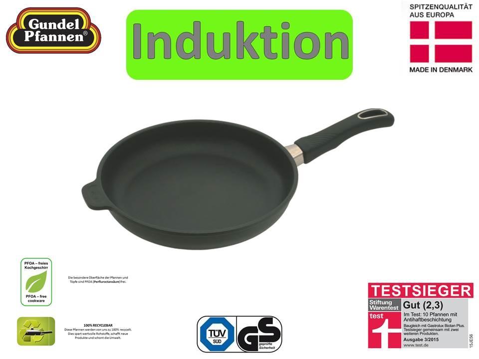 Original Gundel Pfanne 24 cm flach Induktion