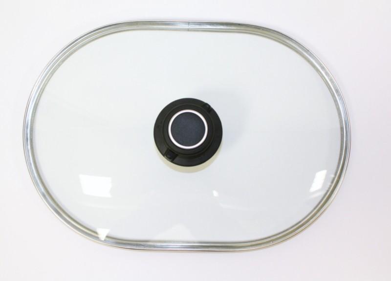 Glasdeckel für Bräter,Pfannen und Auflaufformen 31,9 x 21,7 cm