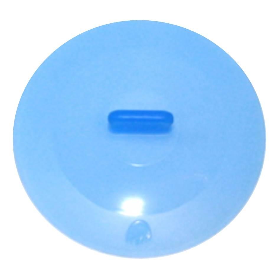Silikon Deckel 36 cm blau