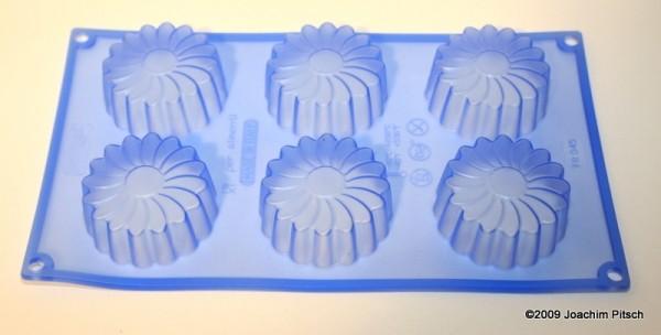 Silikonbackform Muffin Margarite 6er