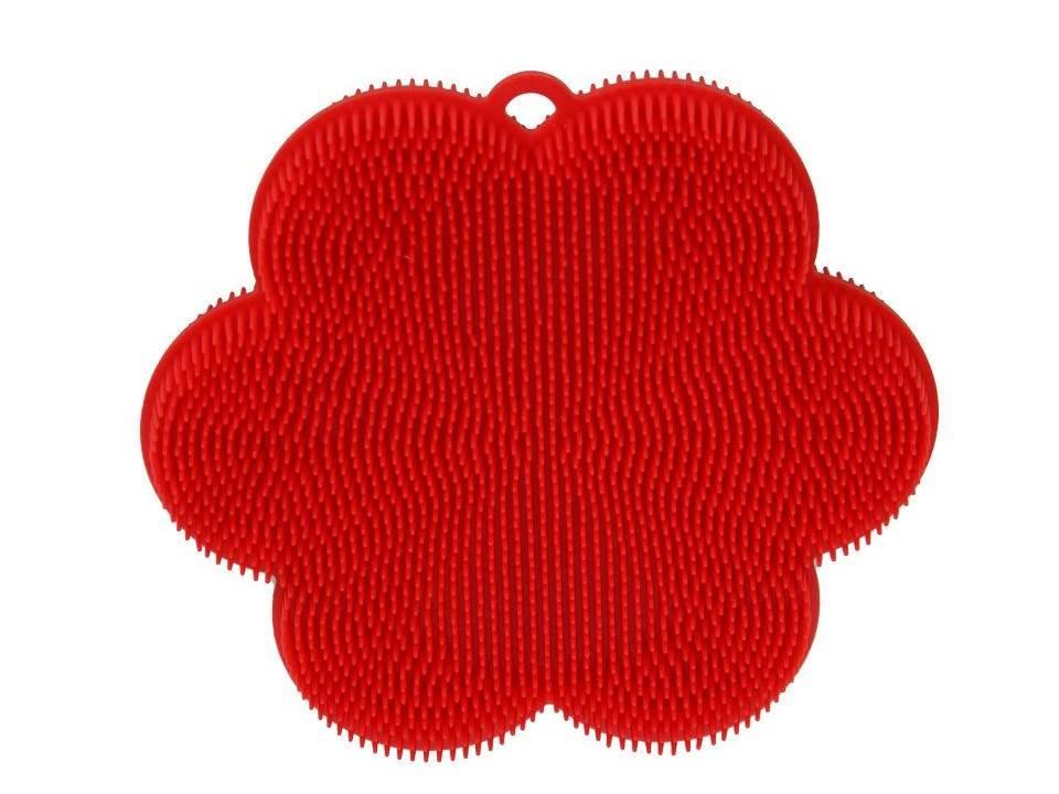 Spültuch aus Silikon Blume