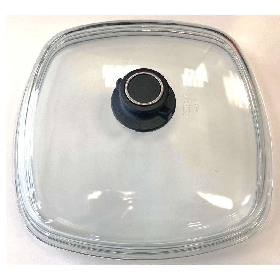 Voll-Glasdeckel eckig Größe 28 cm x 28 cm