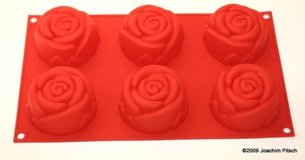 Silikonbackform Muffin Rose 6er