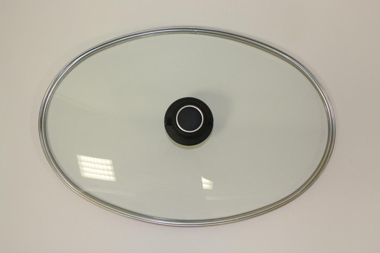 Glasdeckel für ovale Pfanne klein