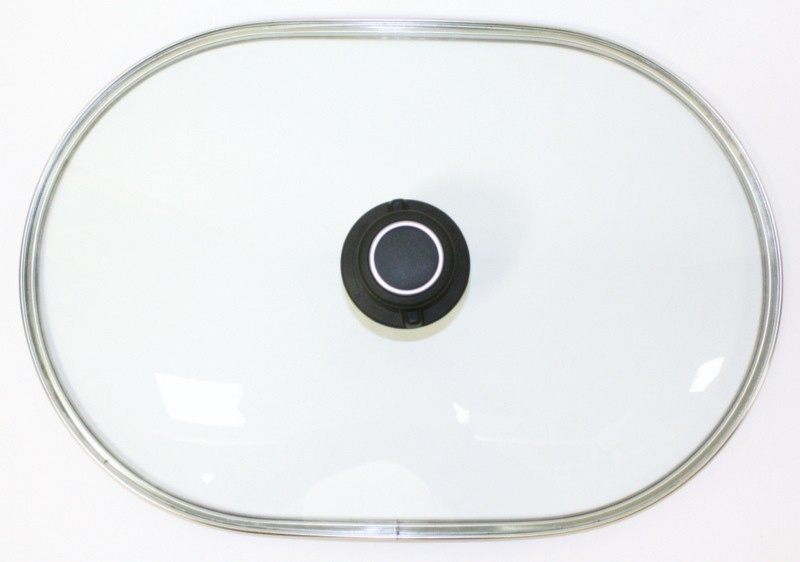 Glasdeckel für Pfannen oder Bräter groß 40 x 26,4 cm