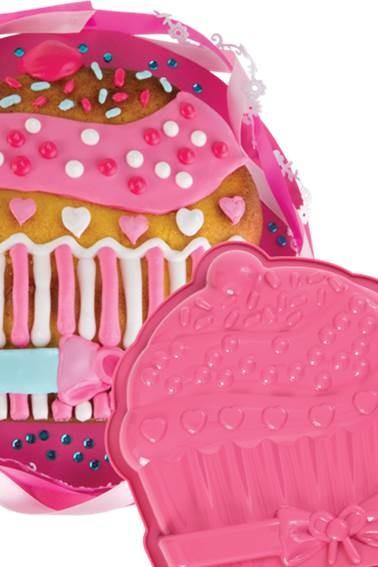 Silikonbackform Cupcake groß
