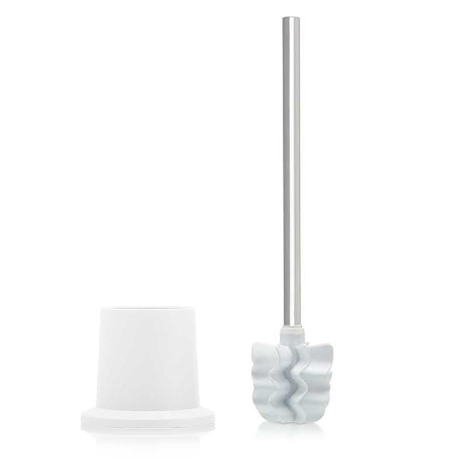 LOOWY Steelline   Toilettenbürste mit Edelstahlgriff Halter Kunststoff