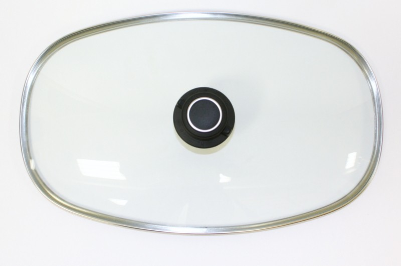 Glasdeckel für Pfannen oder Bräter groß 40,2 x 23,8 cm