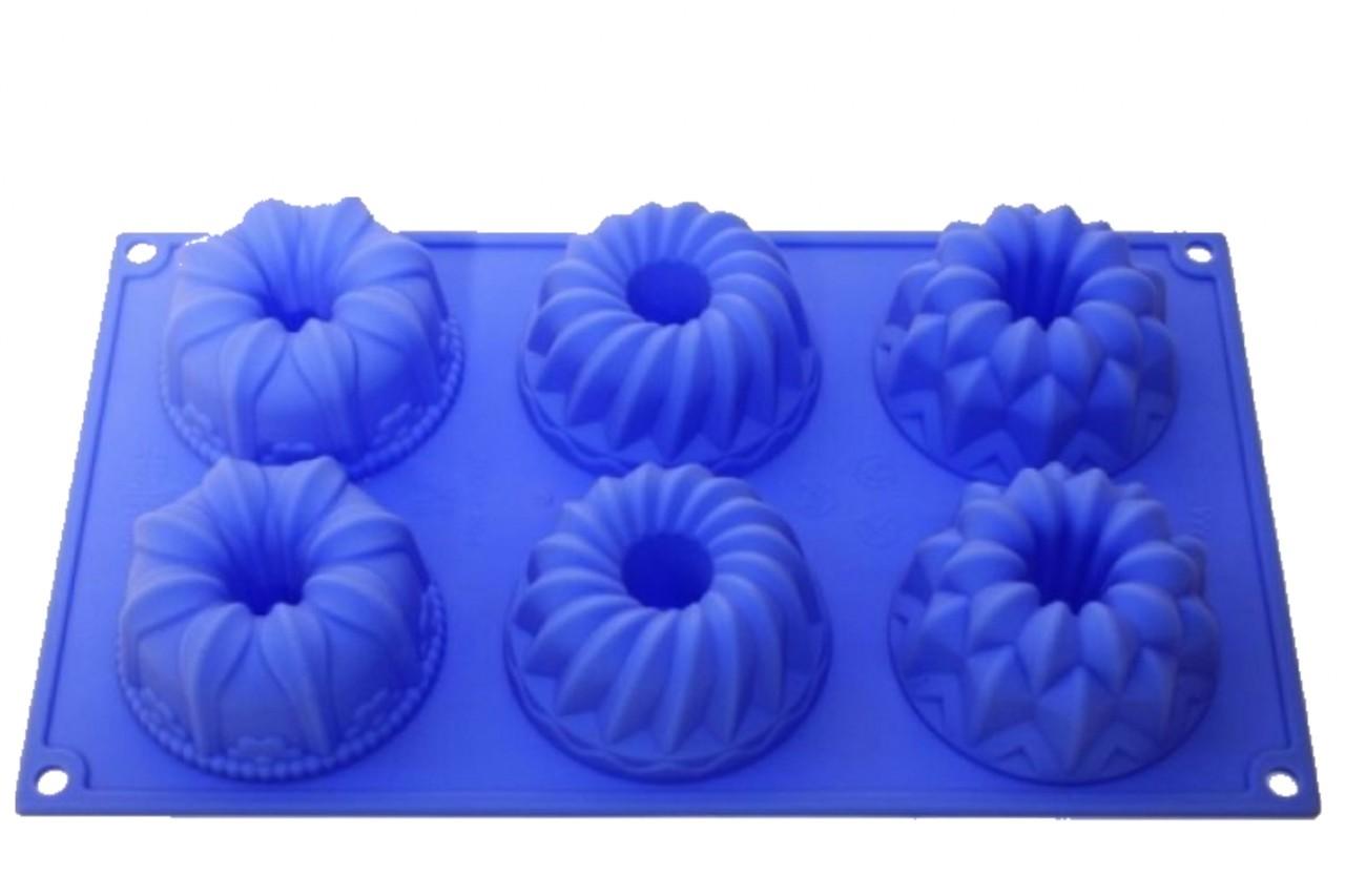 Silikonbackform Muffin Variete 6er