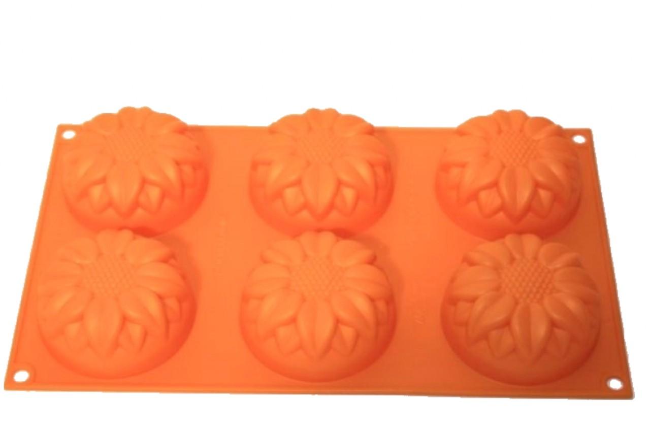 Silikonbackform Muffin Sonnenblume 6er