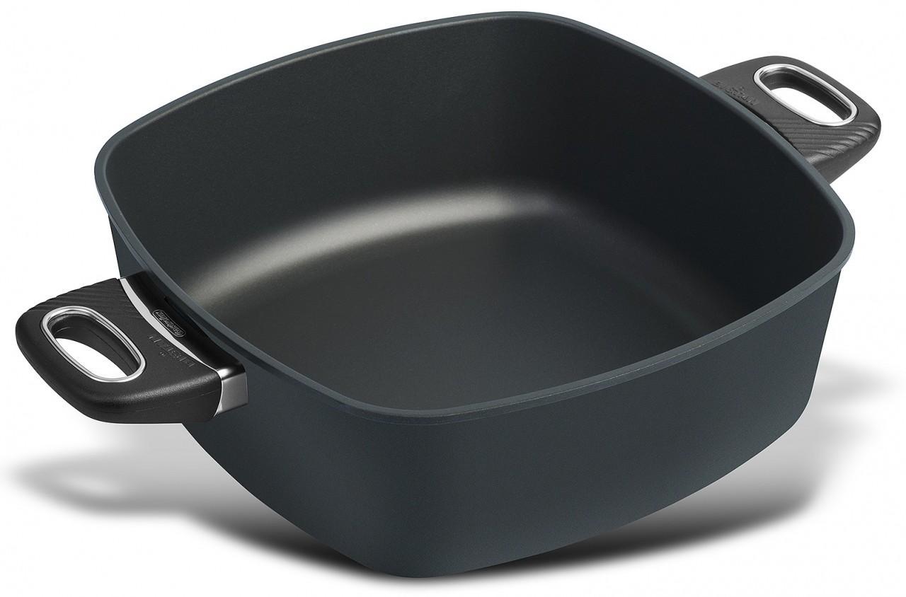 Viereck-Bratentopf 28x28 cm hoch Induktion Gastrolux