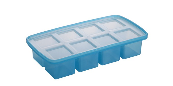 Eiswürfelfom Würfel 8er groß blau