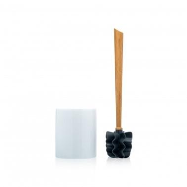 LOOWY Eiche Set | die borstenlose Toilettenbürste mit Eichengriff