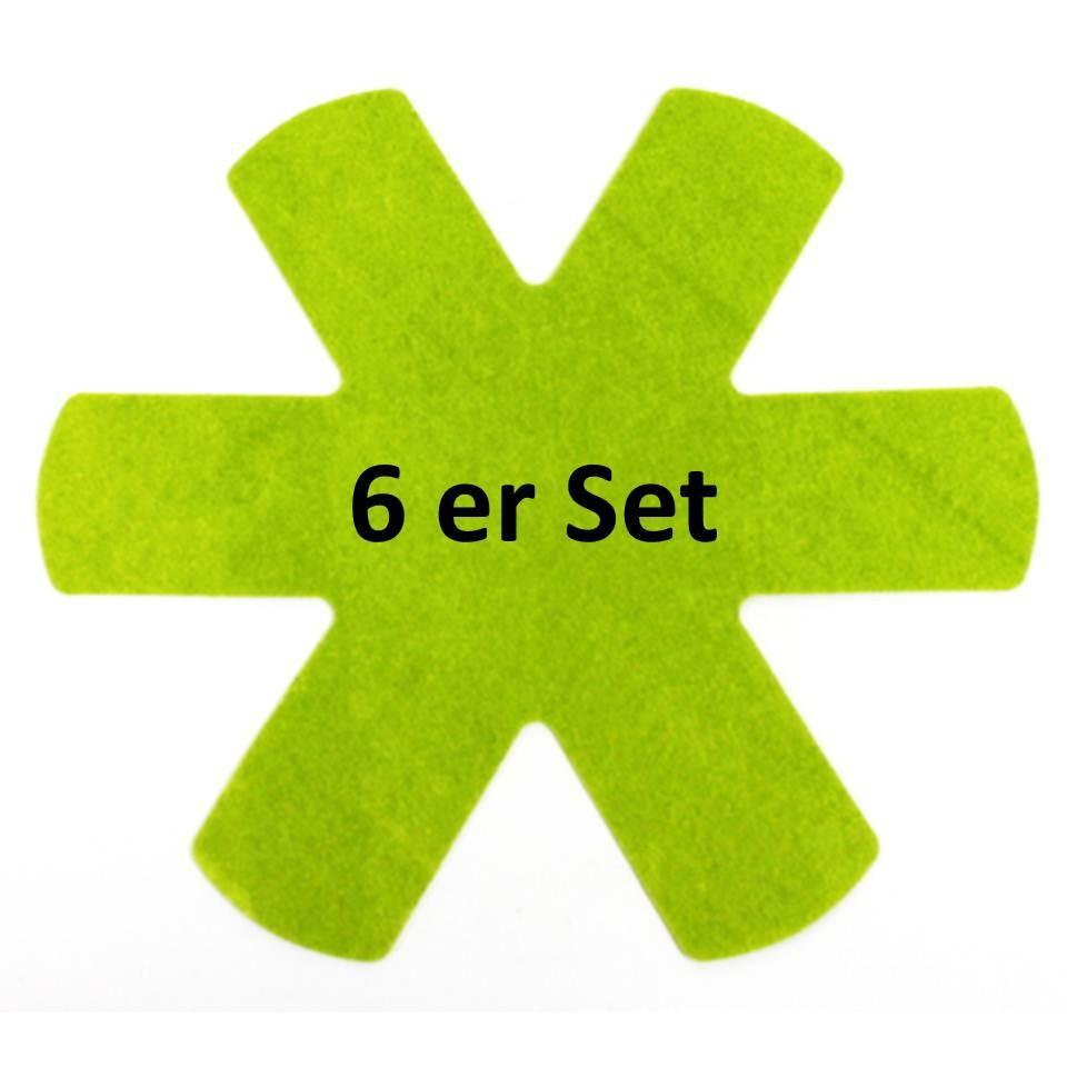 Pfannenschutzeinlagen 6er Set grün