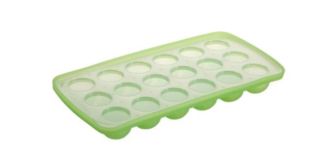 Eiswürfelfom Halbkugel 18er grün
