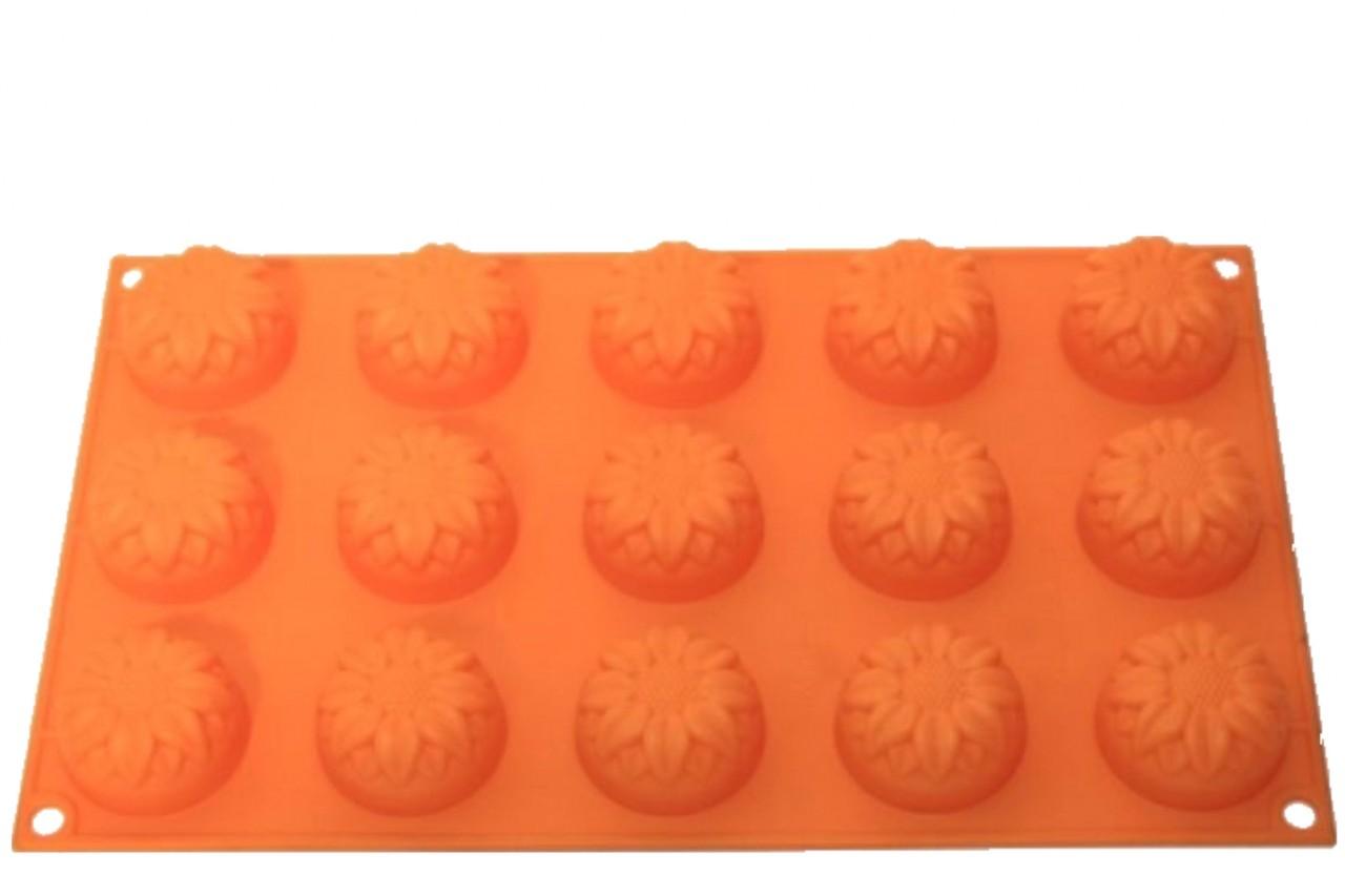 Silikonbackform Muffin Sonnenblume 15er
