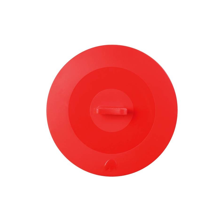 Silikon Deckel 25 cm rot
