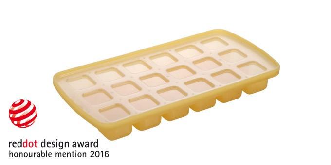 Eiswürfelfom Würfel 18er gelb