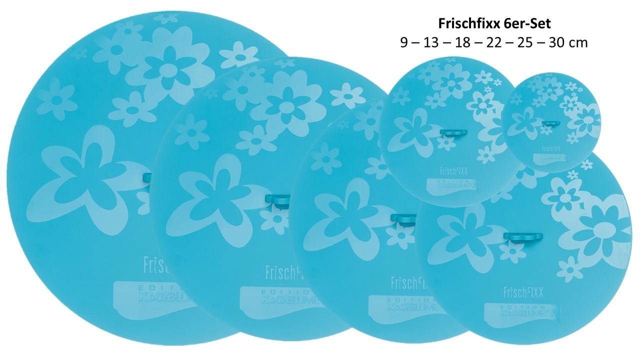 Kochblumen Frischfixx 6er-Komplett-Set Silikondeckel