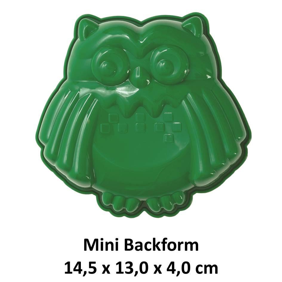 Silikonbackform Mini Eule