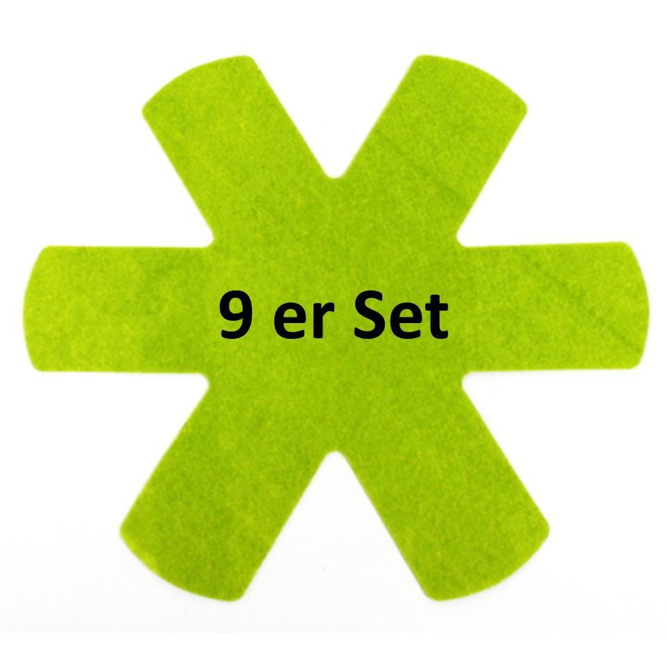 Pfannenschutzeinlagen 9er Set grün