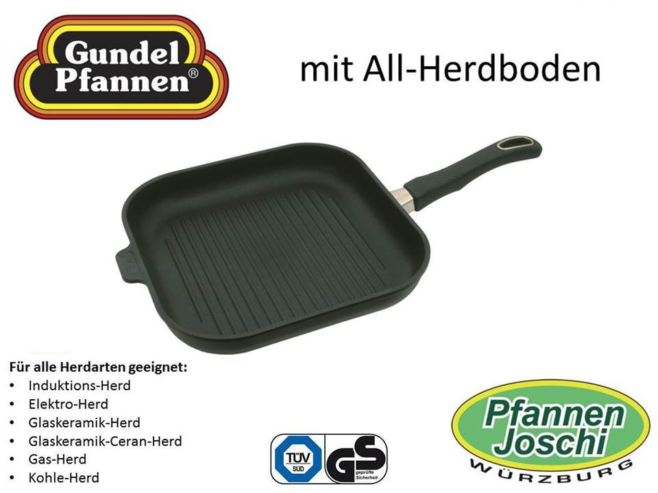 Original Gundel 28 x 28 cm Grill-Viereck-Pfanne