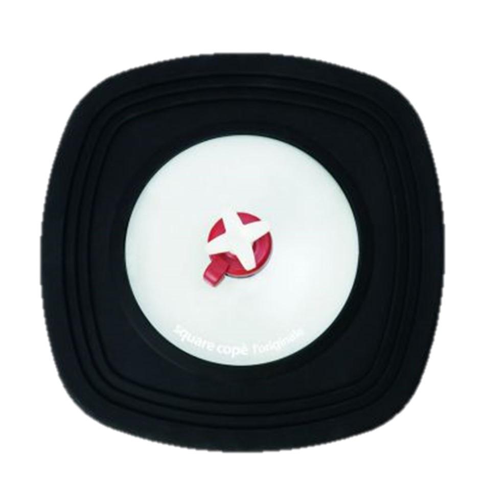 Pavoni Universal Bratdeckel eckig 22x22 bis 30x30cm schwarz