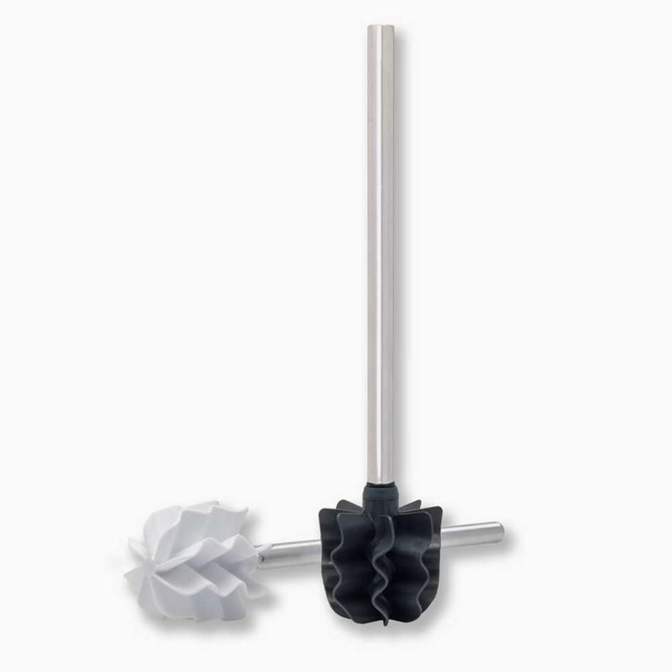 LOOWY Steelline Single | die borstenlose Toilettenbürste mit Edelstahlgriff