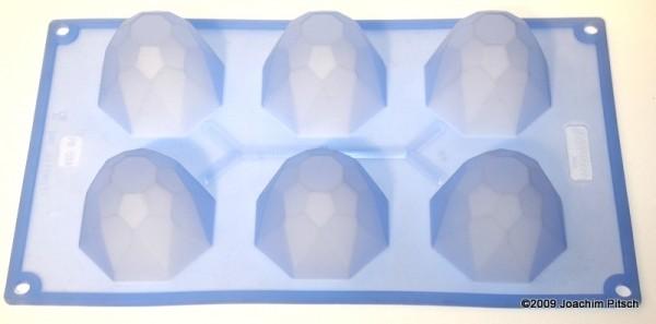 Silikonbackform Diamante 6er