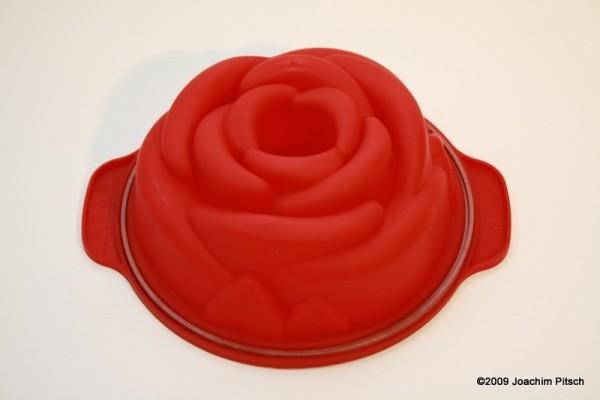 Silikonbackform mittlere Rose 18cm