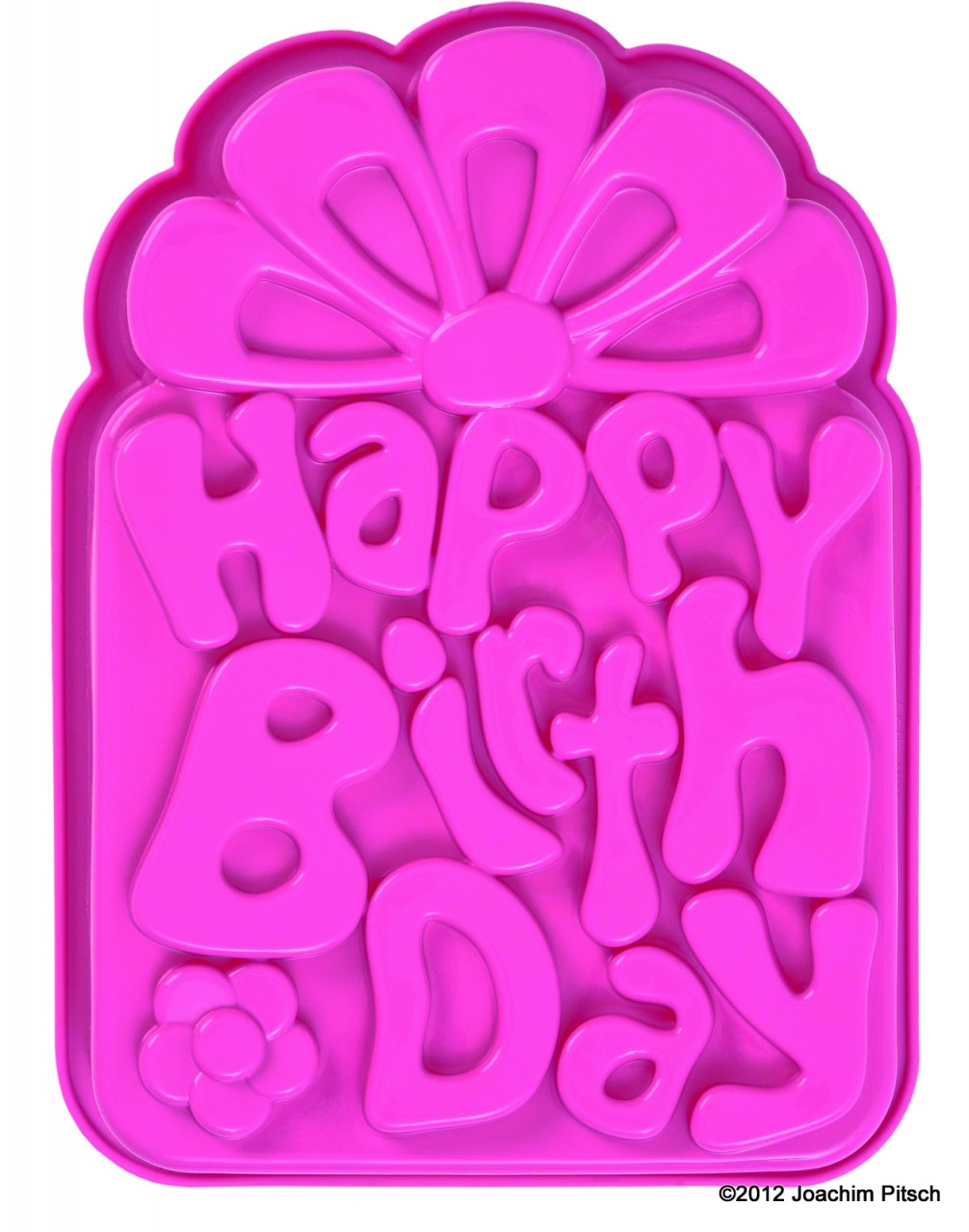 Silikonbackform Happy Birthday pink