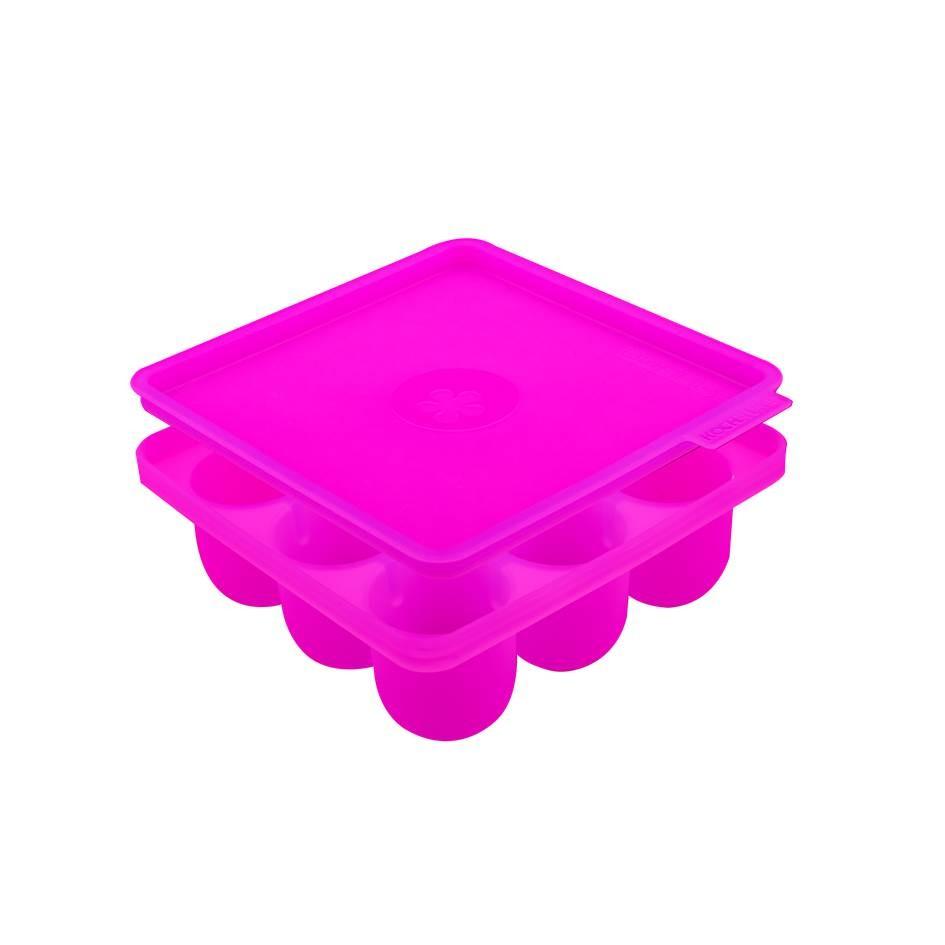 Kochblumen Eiswürfelbehälter 9er Halbrund pink