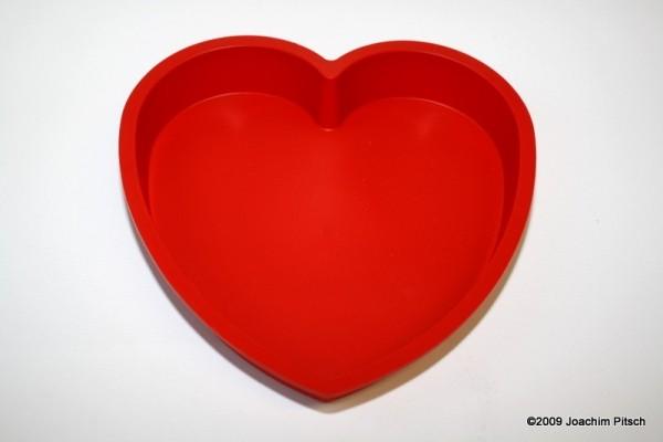 Silikonbackform Herz