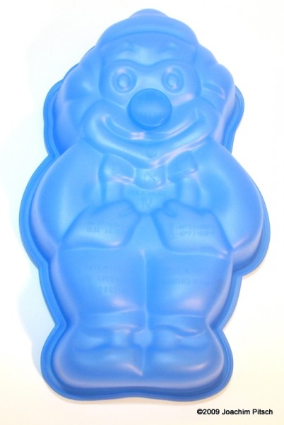 Silikonbackform Clown blau