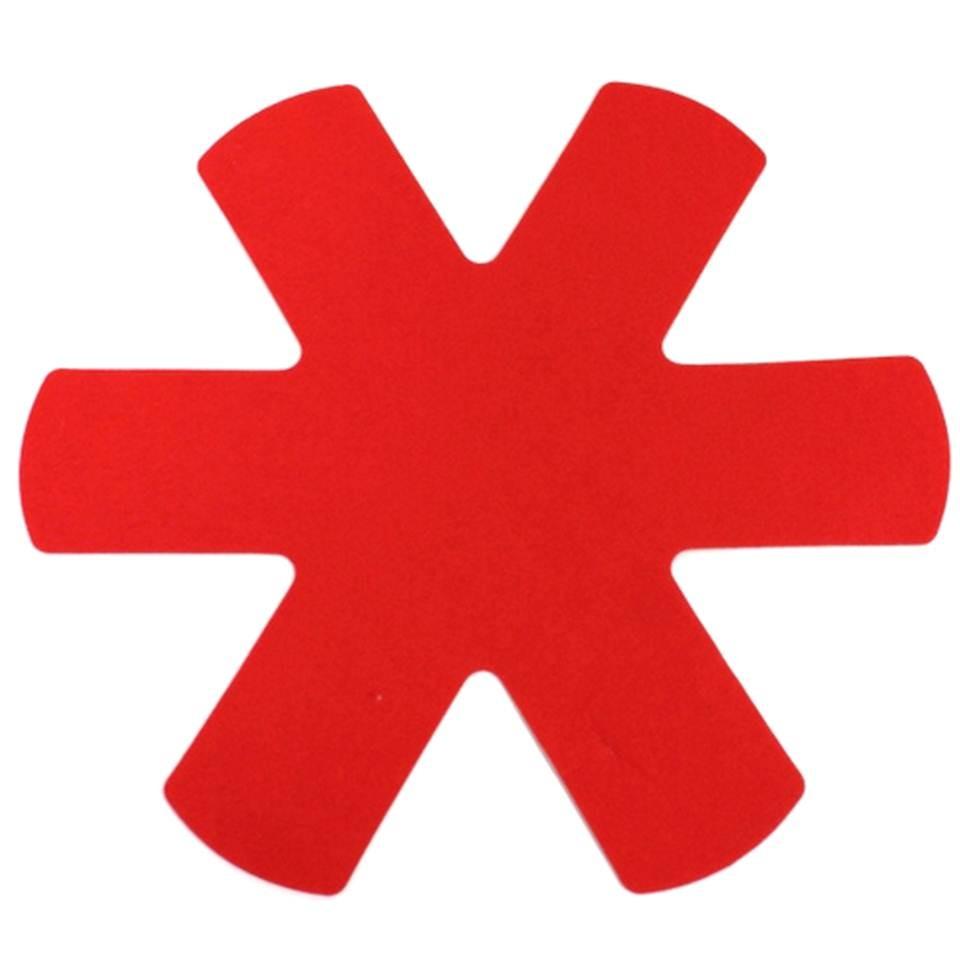 Pfannenschutzeinlagen 6er Set rot